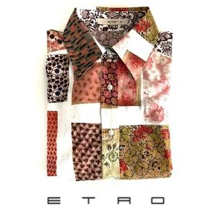 Etro Floral Patches Women's Button Down Shirt